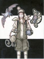"""Childhood Dreams: Monster Tamer (copic marker and ink, 4"""" X 6"""", 2017)"""